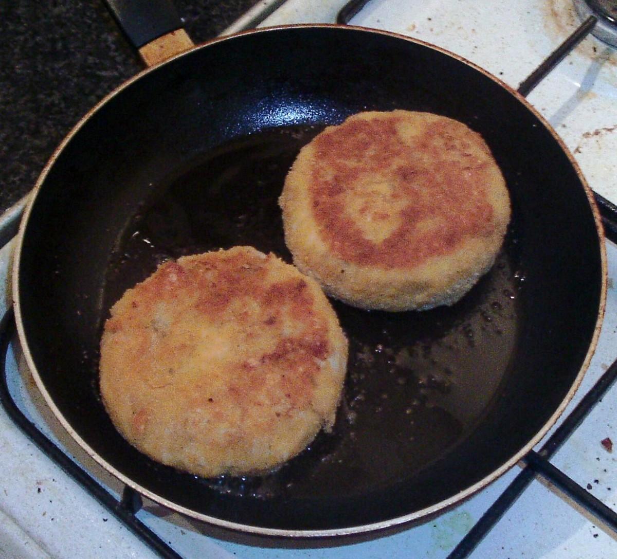 Turned fishcakes
