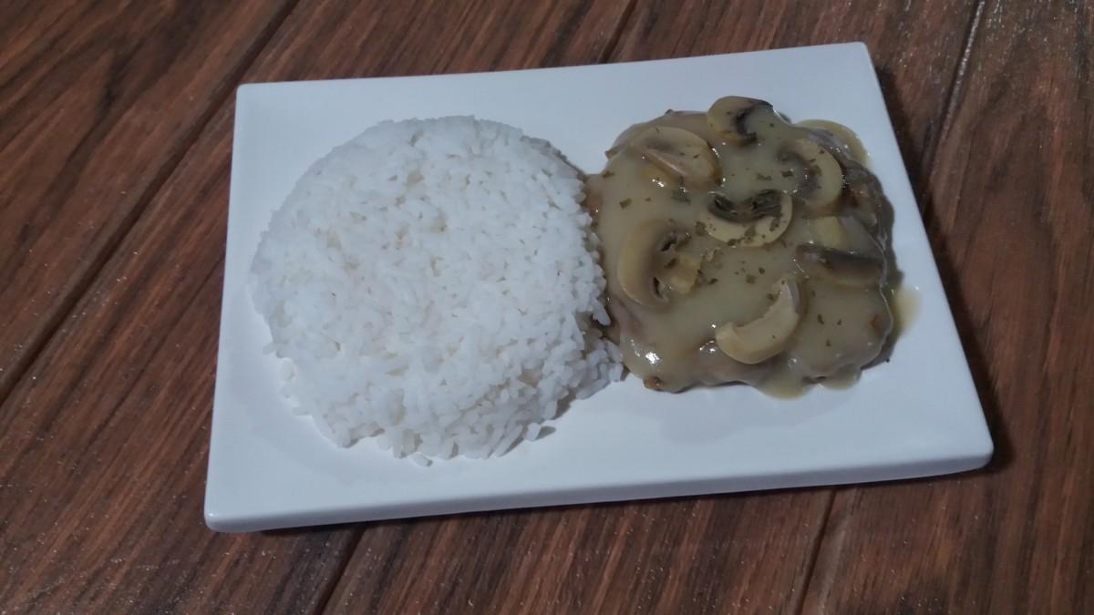 Jollibee burger steak with mushroom