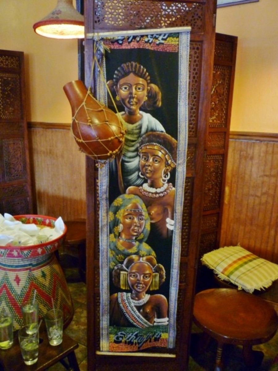The art inside the restaurant