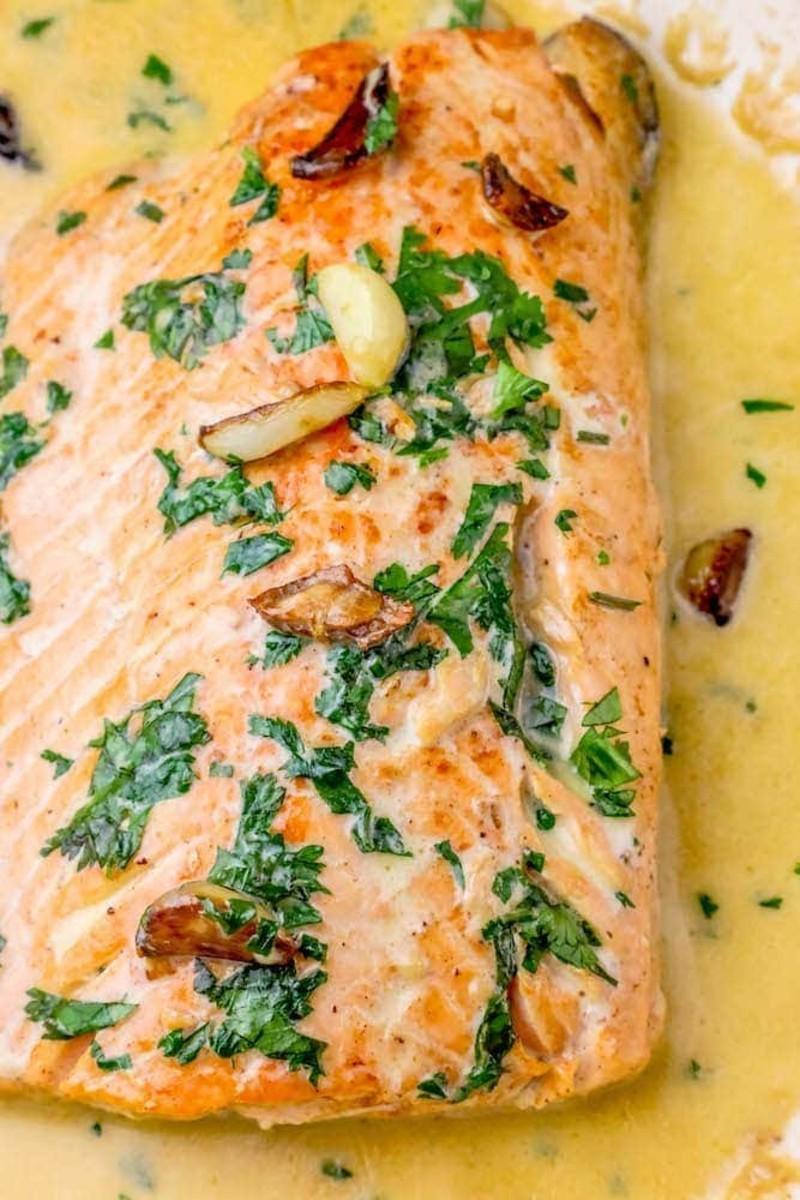 One-pot Irish whiskey glazed salmon