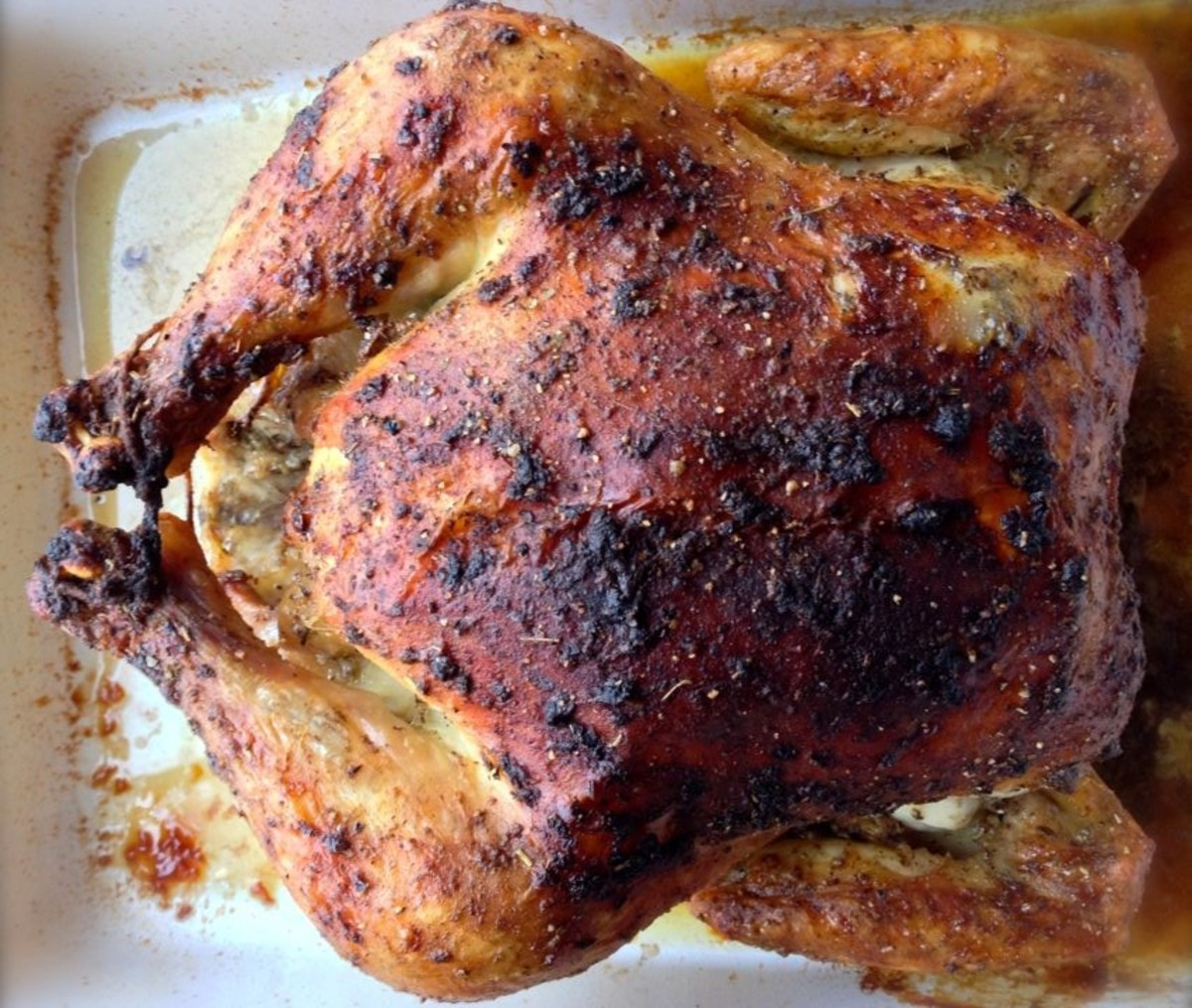 Roasted herbs de Provence chicken