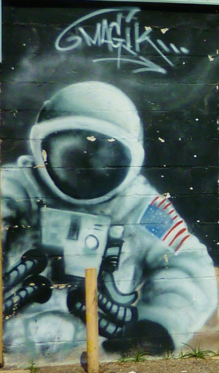 U.S. astronaut on the mural