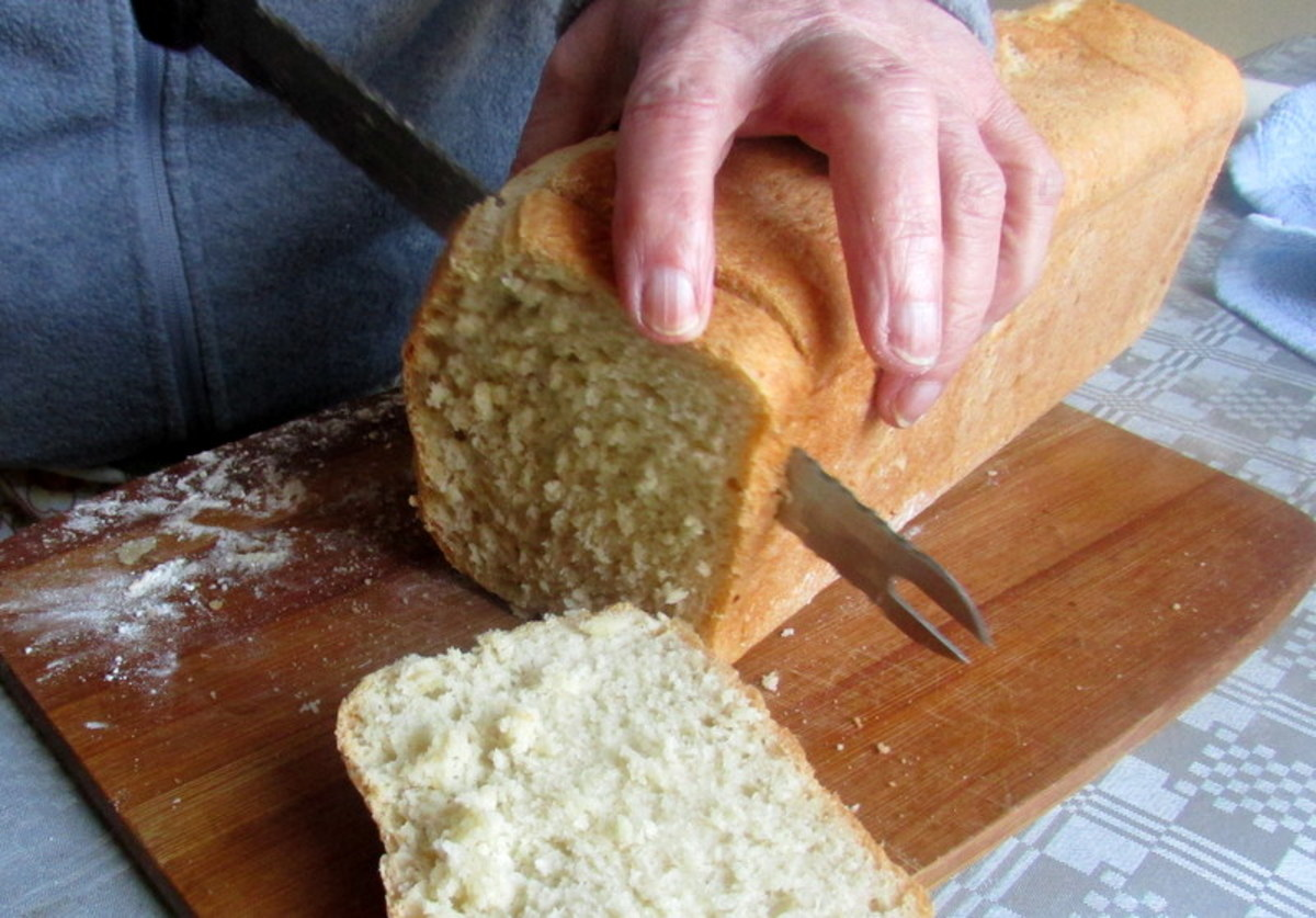 Recipe for bread with yeast