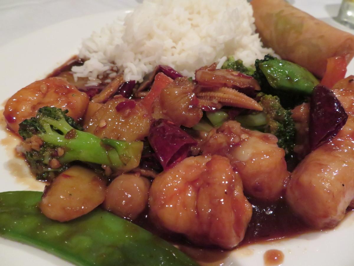 Hunan shrimp and scallops (delicious!)