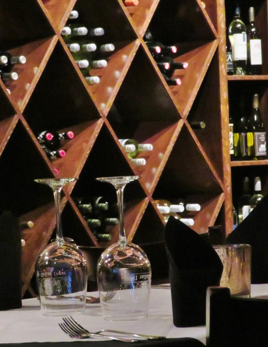 Built-in wine racks
