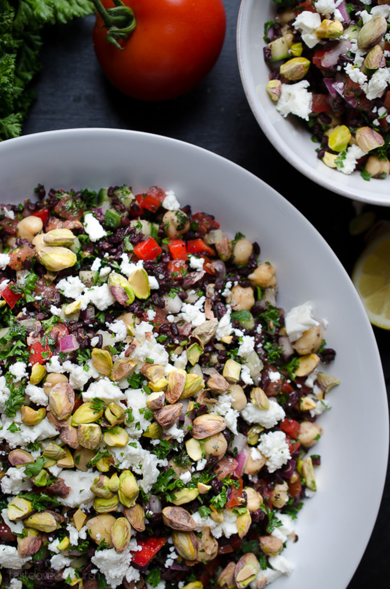 Black rice tabbouleh