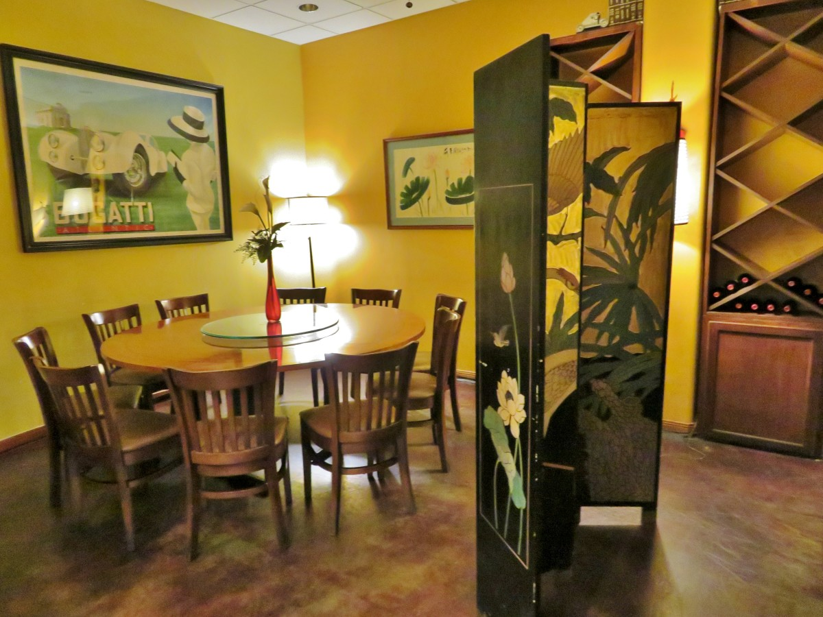 Partial view of private dining room
