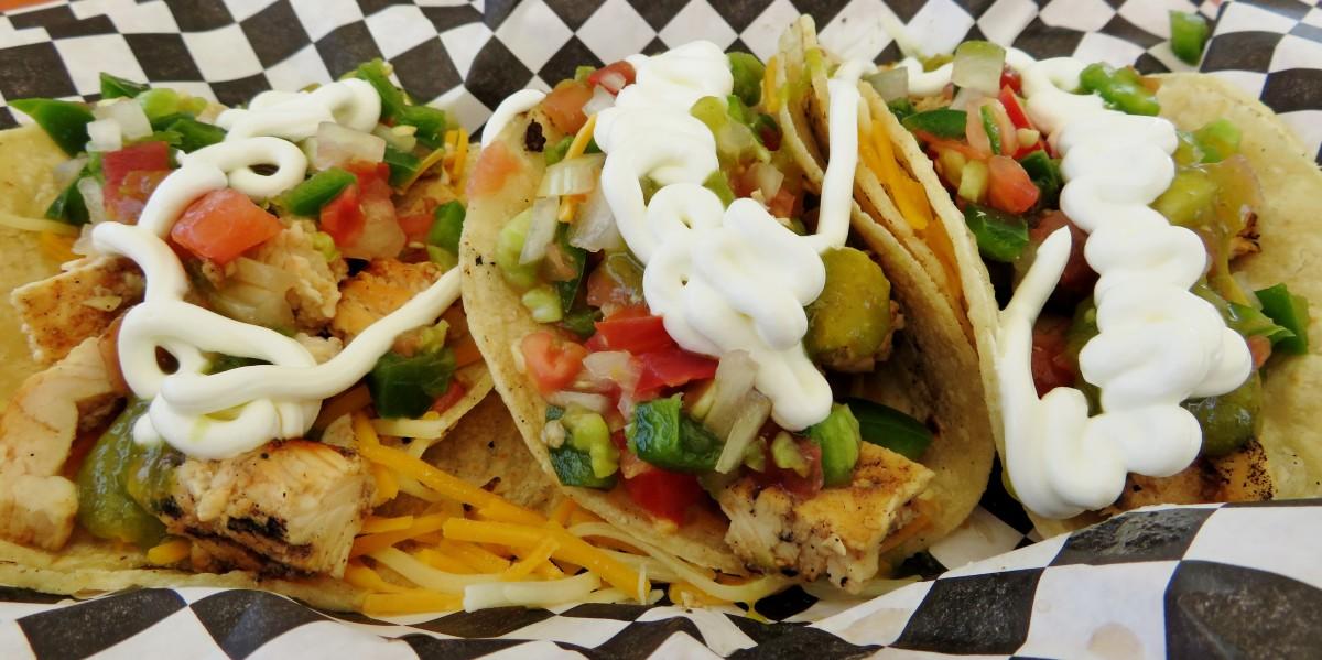 We enjoyed tacos from the Black Market Burritos food truck.
