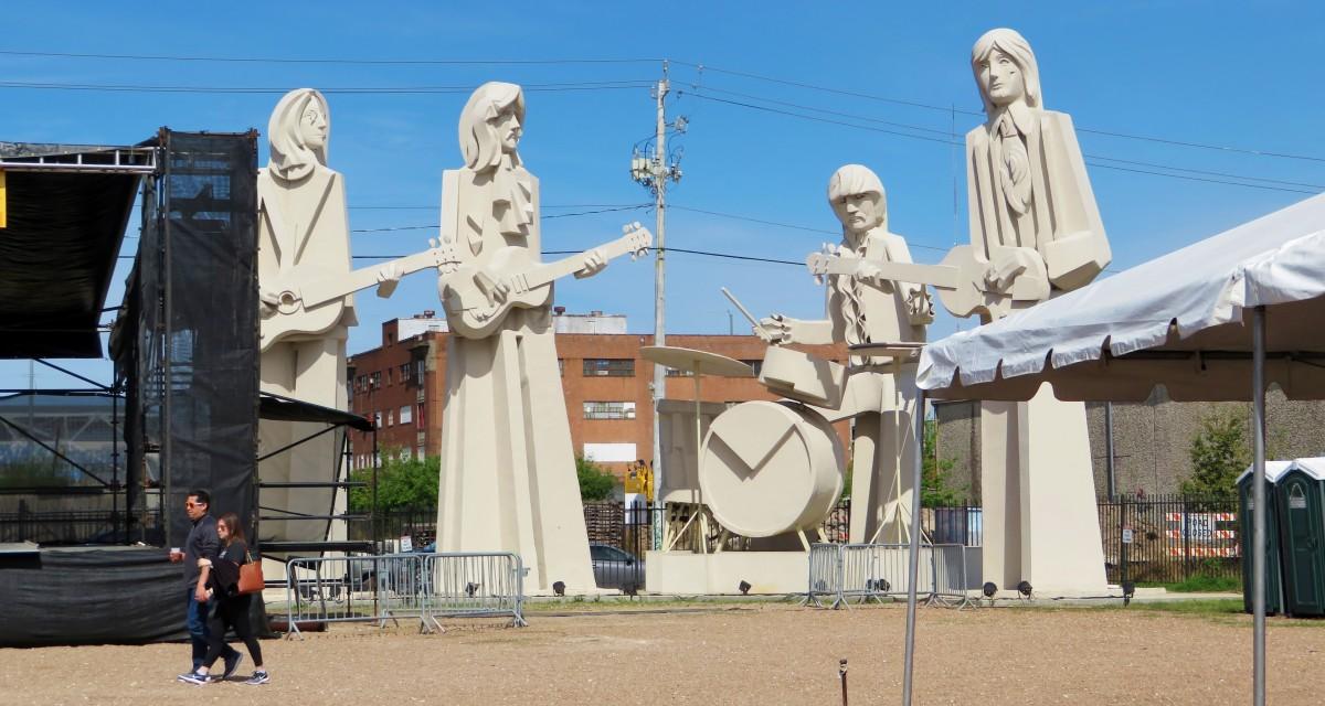 Beatles sculptures by David Adickes