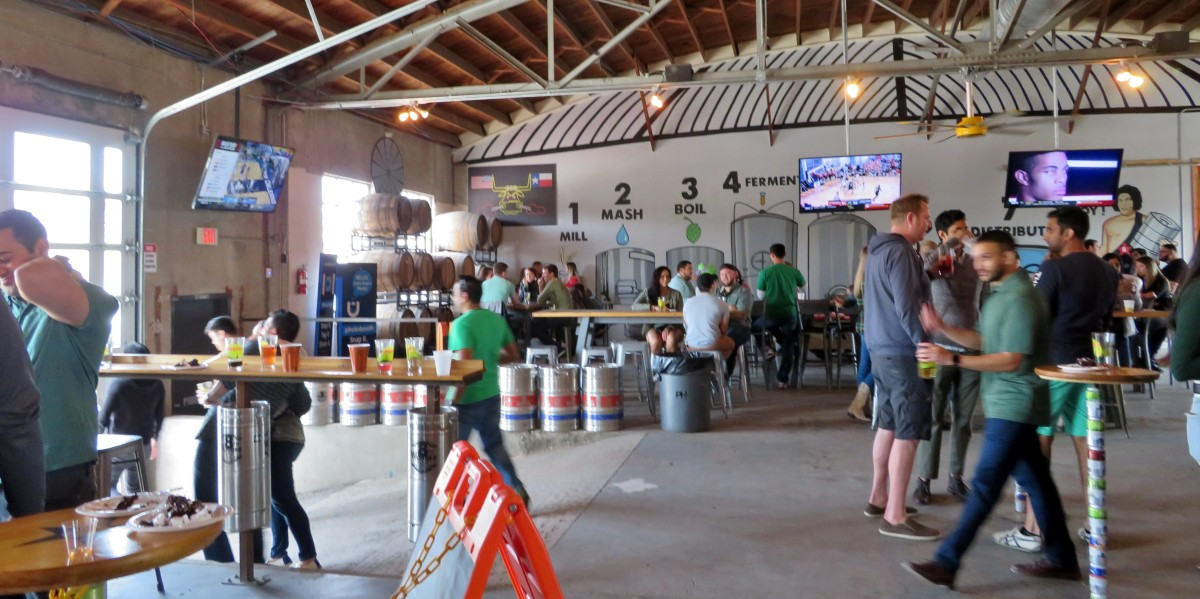 Inside of the brewery