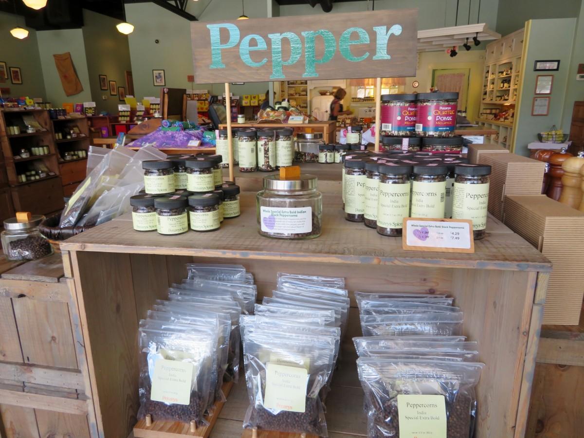 Assortment of pepper choices