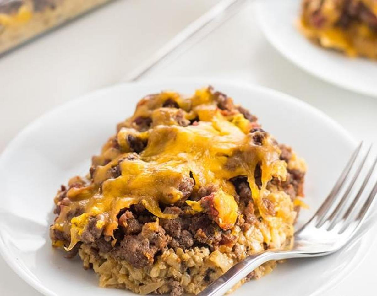 Low-Carb Cheeseburger Casserole