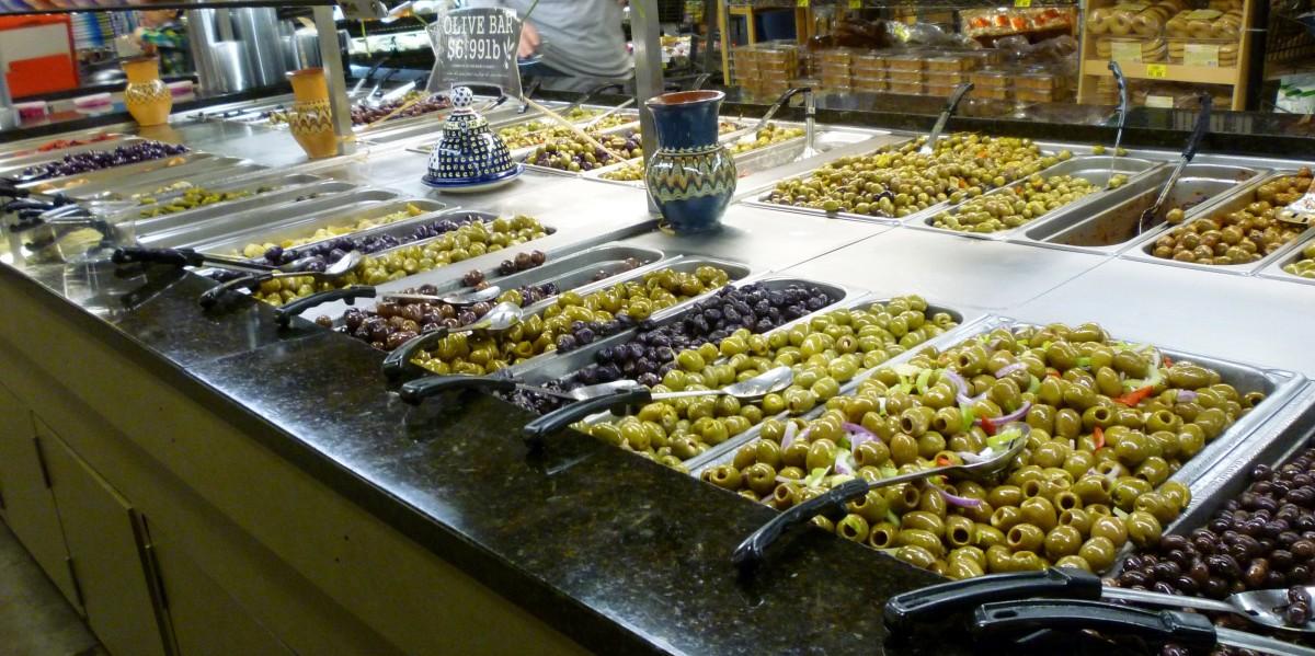 Self-serve olive bar