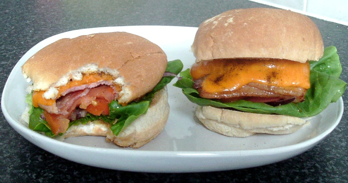Cheese and onion BLTs