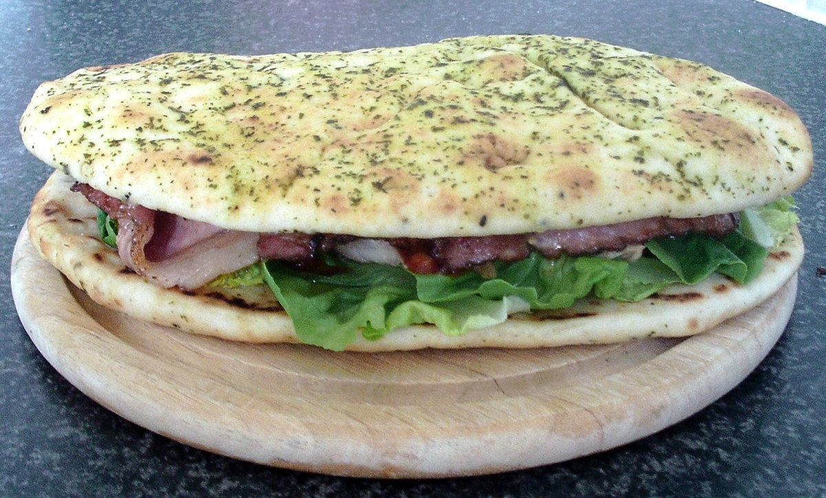 Second naan completes sandwich assembly