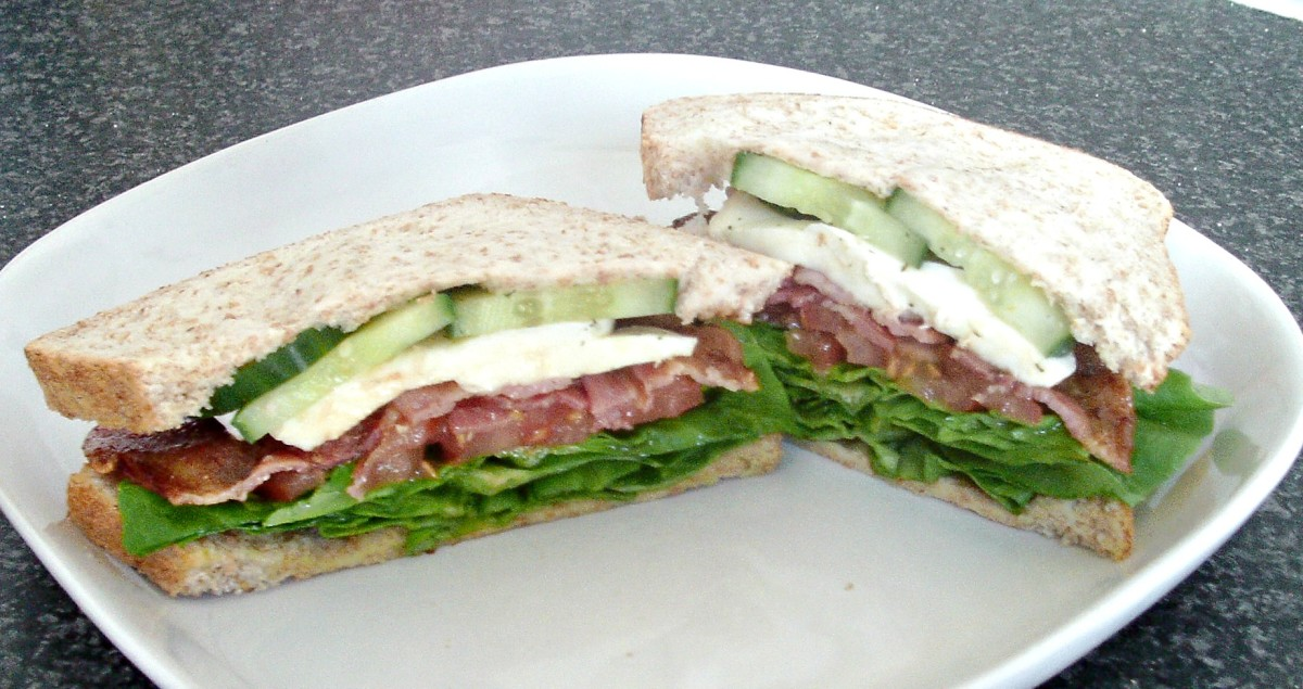 Traditional BLT with soft ball buffalo mozzarella and homemade dill pickles