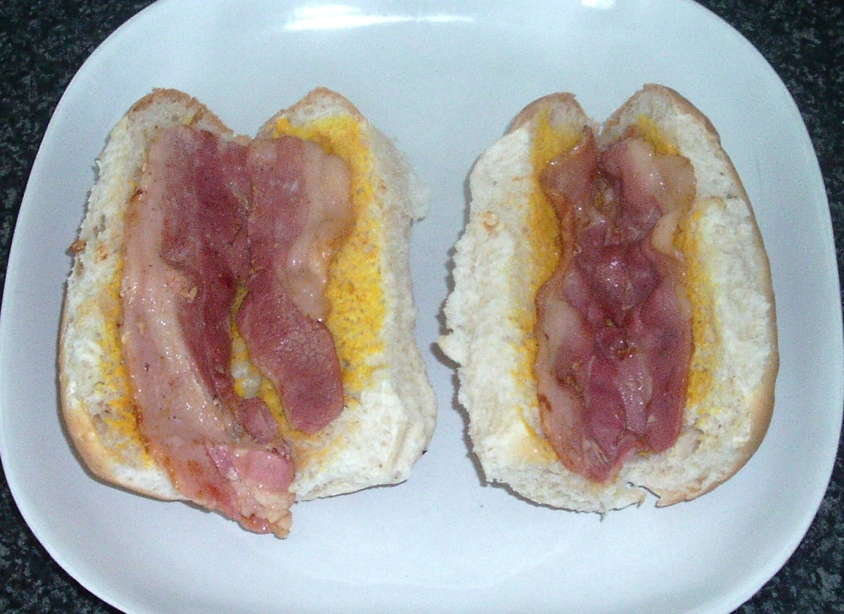 Bacon is added to rolls