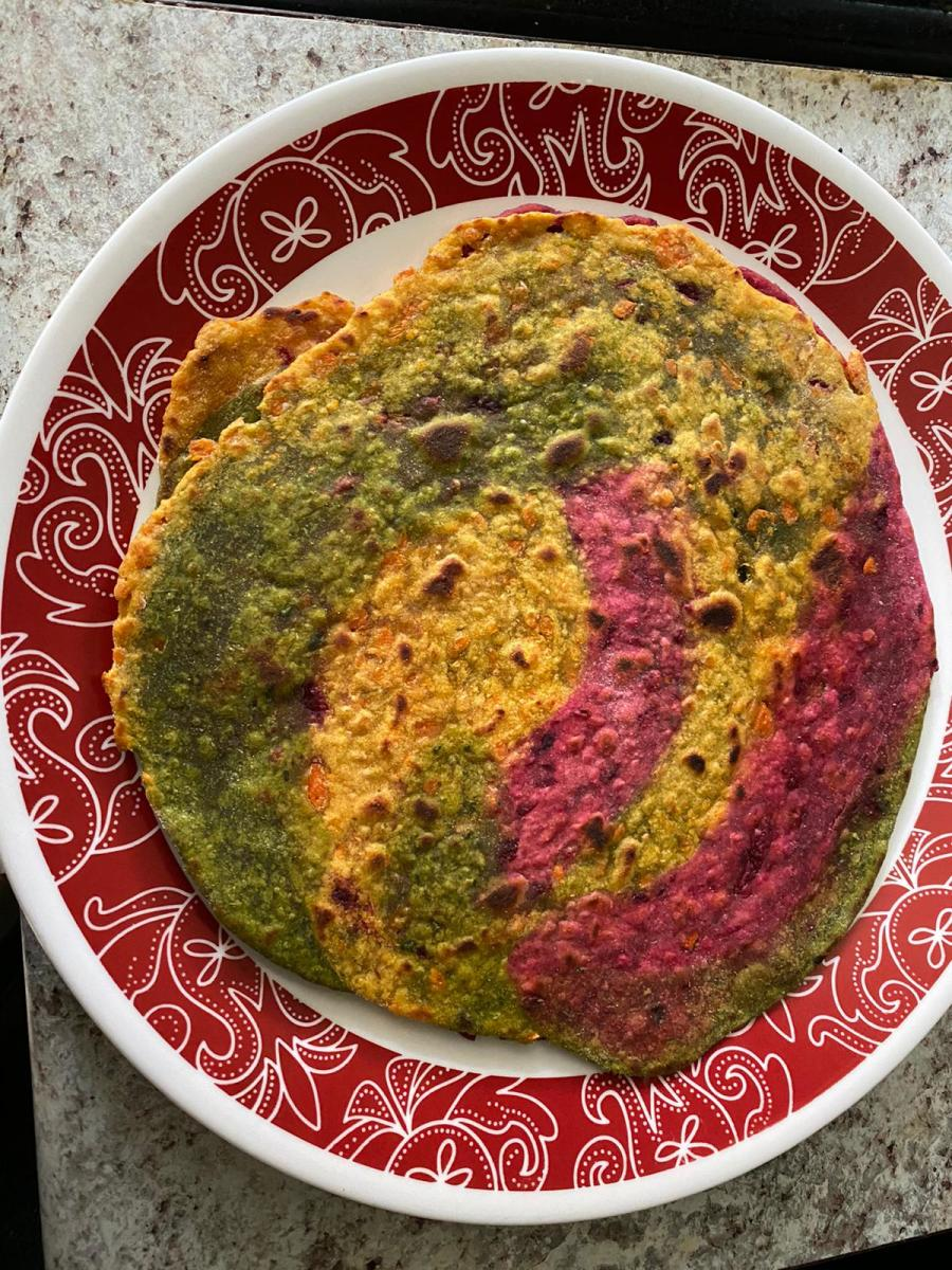 Colorful chapati