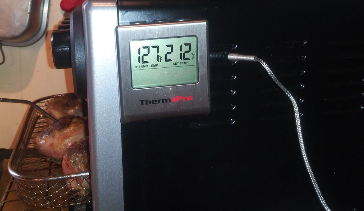 The most effective way to check if meat is fully cooked is by checking internal temperature.