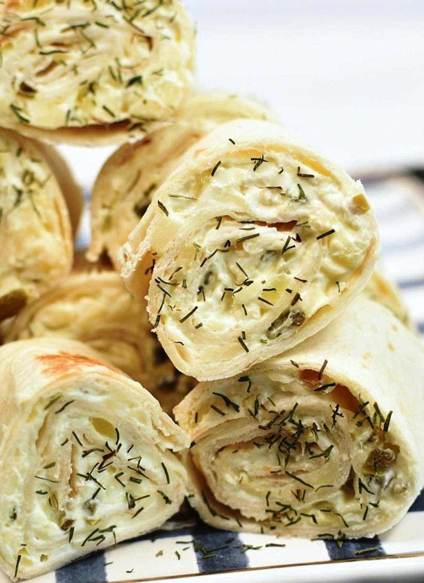 Dill pickle roll-ups