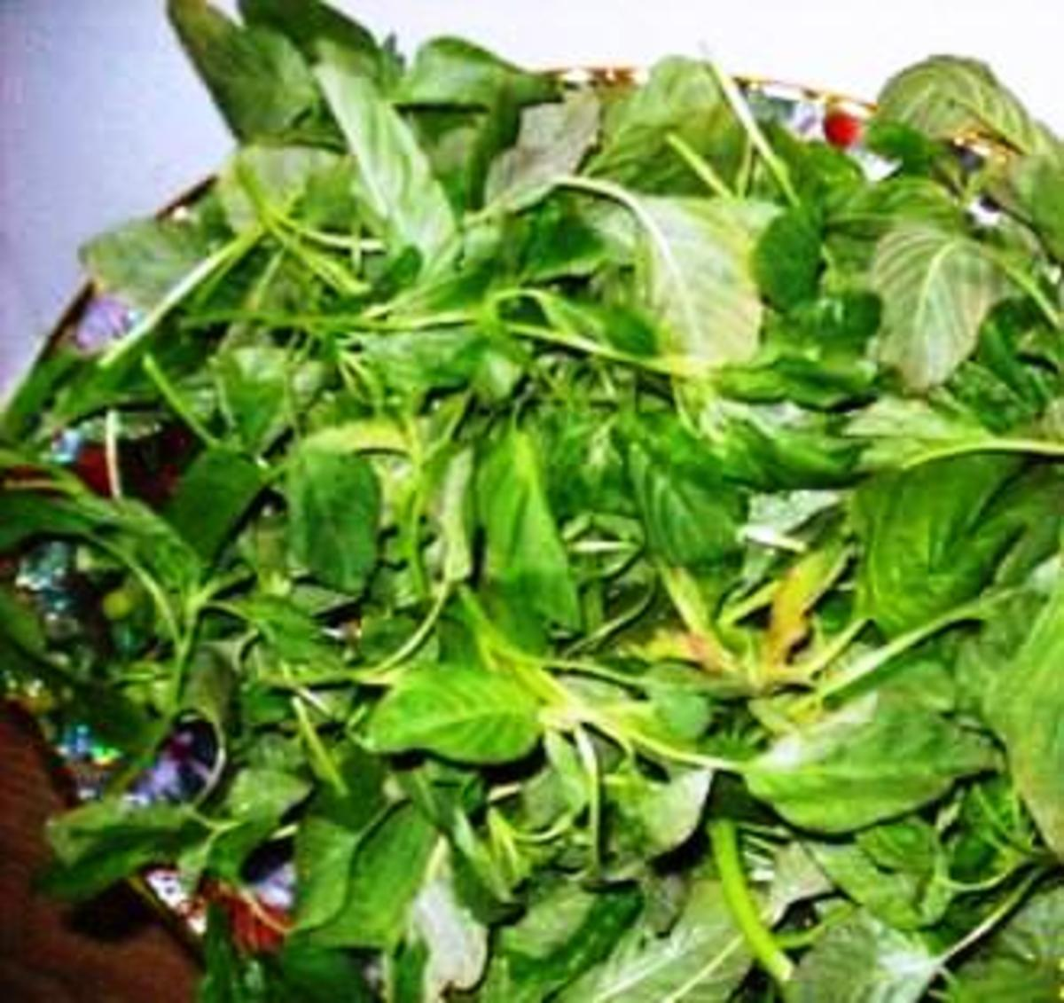 Leafy amaranth greens
