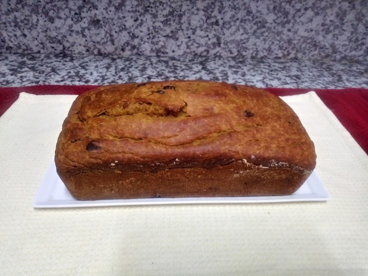 Remove the pumpkin bread from the pan.