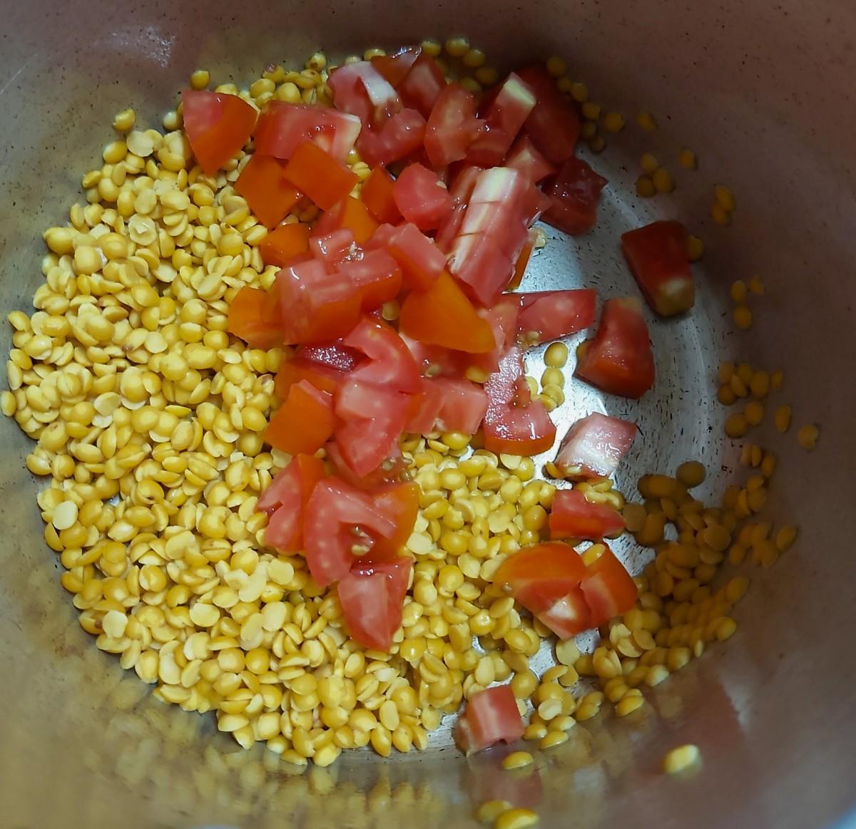 Add 1 to 2 chopped ripe tomatoes.