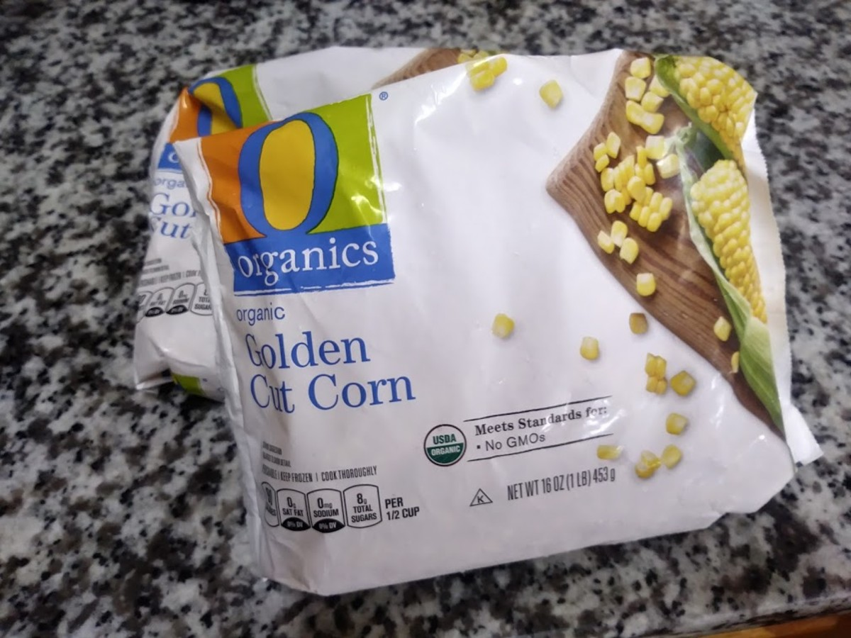 I use 2 16-oz bags of frozen corn when I make sweet humita. Frozen vegetables retain much of their nutritional value, making them a healthy (and sometimes healthier) option to fresh vegetables.