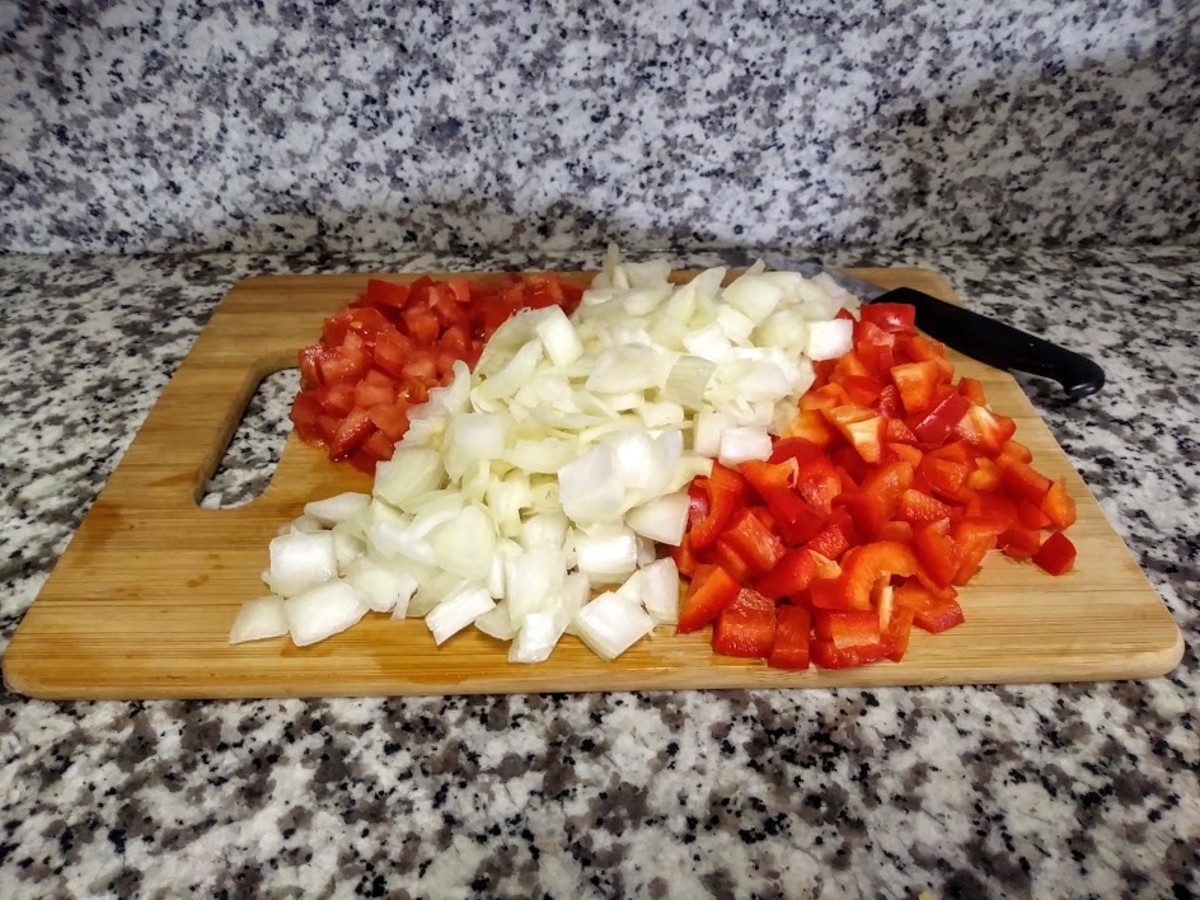 Prep your vegetables ahead of time to make it easier.