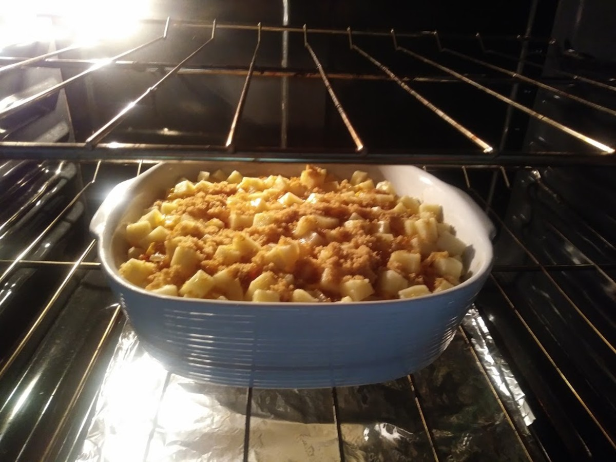Place the casserole dish in the preheated oven at 375 degrees F for 45 min or longer.