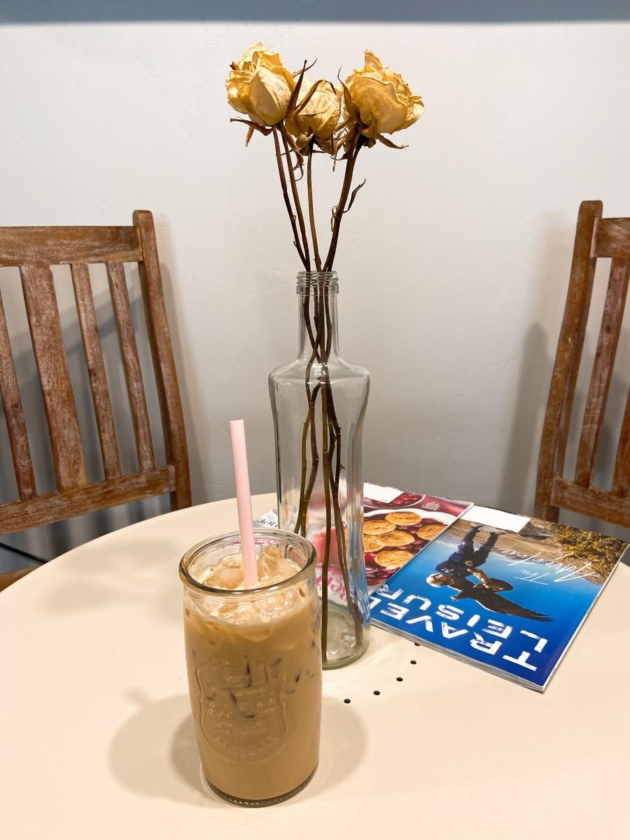 Voila, a delicious caramel iced coffee!