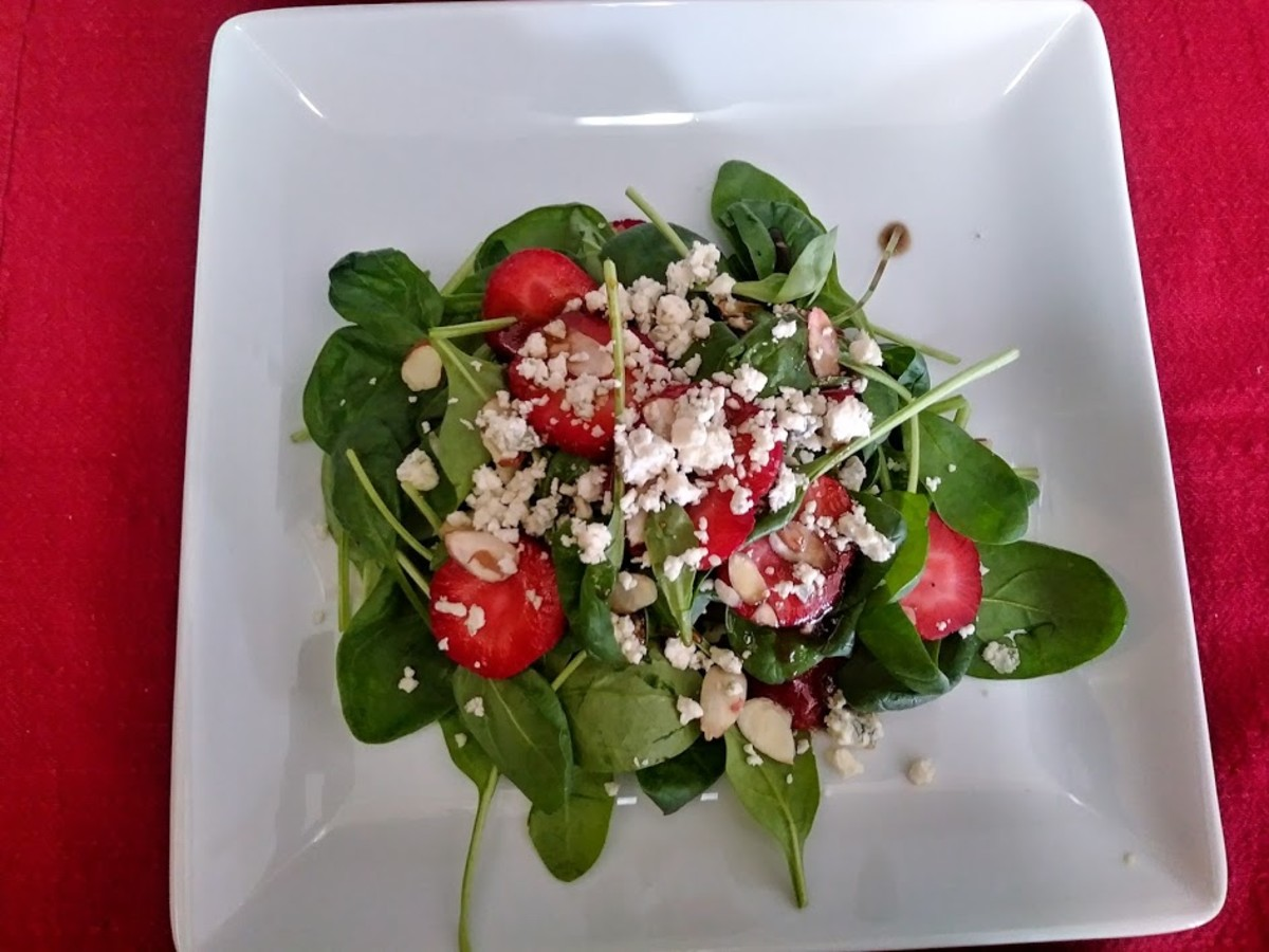 You can add the dressing and crumbled cheese to each individual salad plate if you prefer.