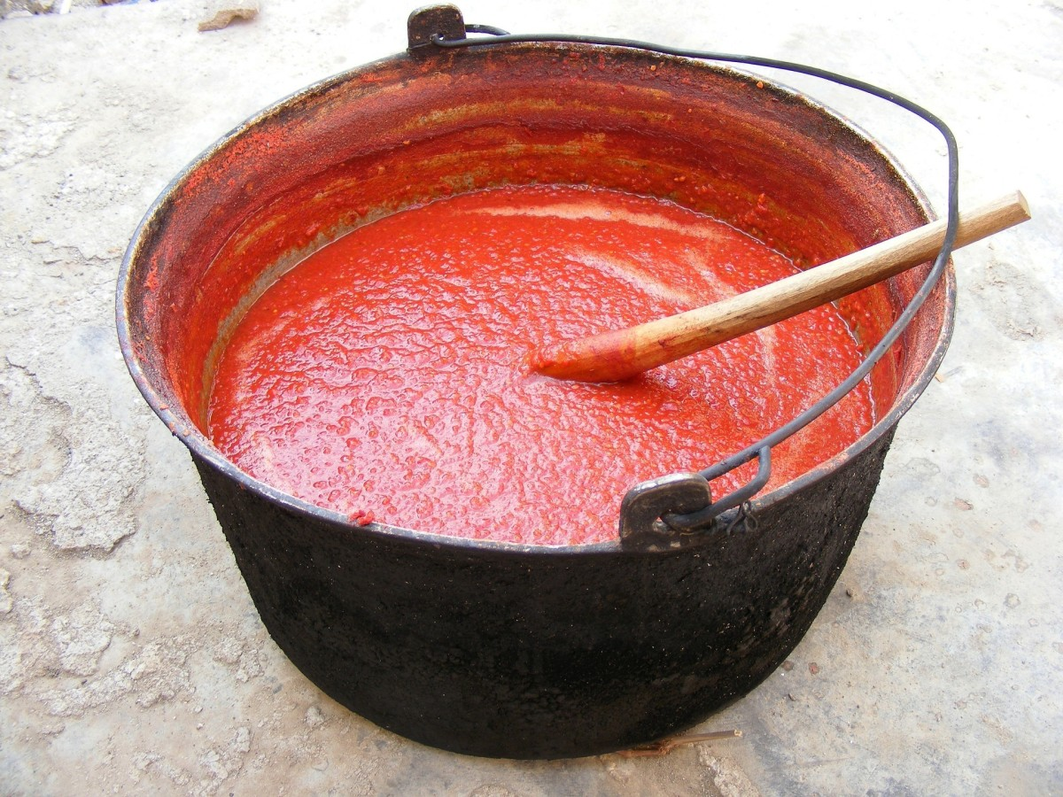 Tomato puree for marinade