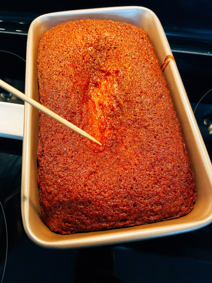 The cake tester comes out clean means the cake is perfectly baked.