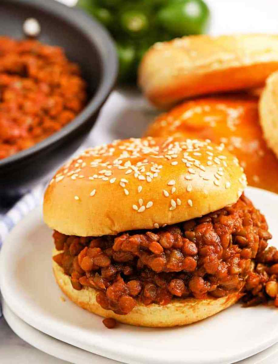 Lentil (Vegetarian) Sloppy Joes