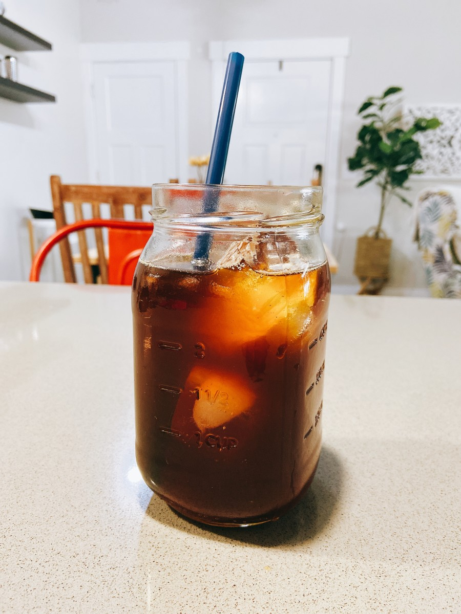 Grab a straw and enjoy your cold brew coffee at home!