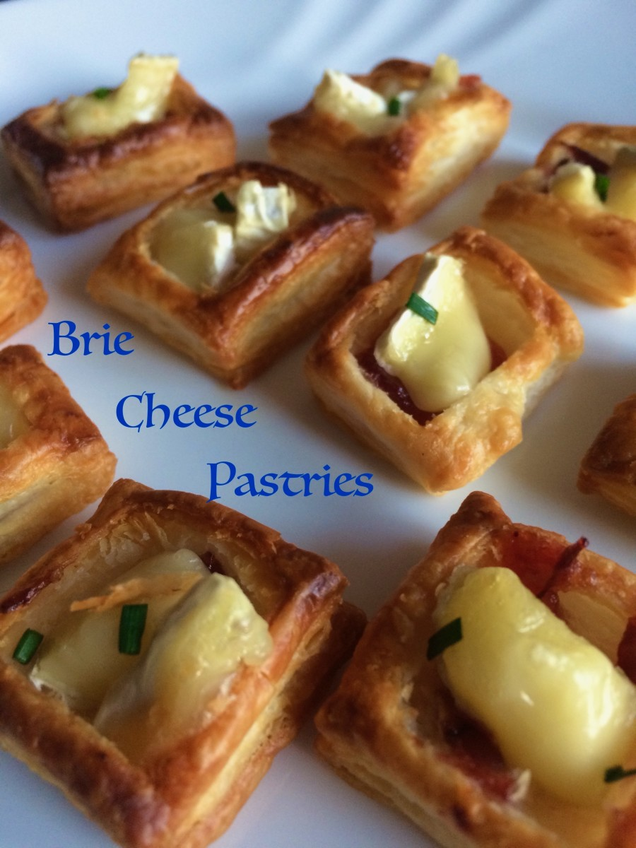 Brie and Tomato Chutney Puff Pastries