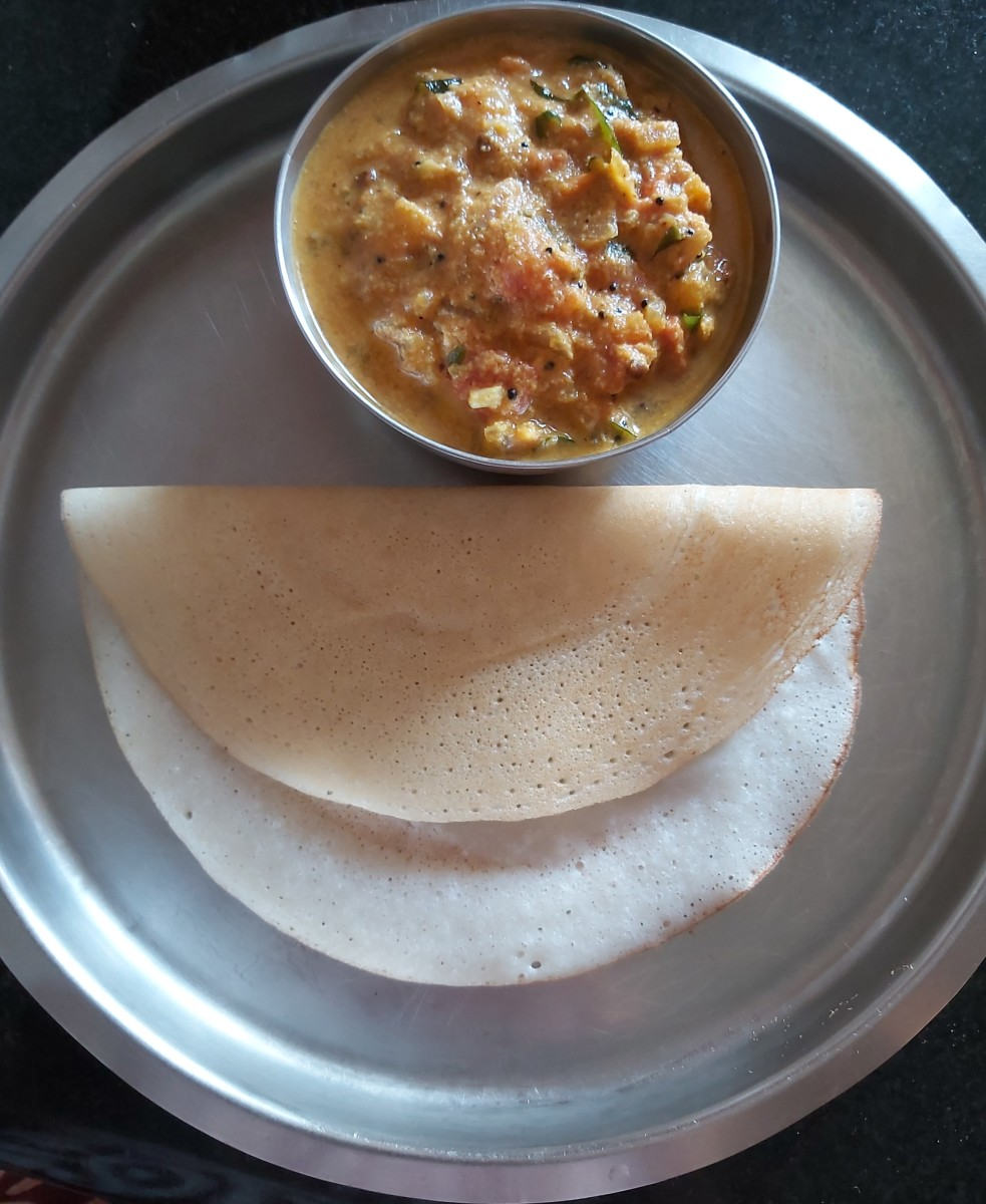 Serve hot with breakfast dishes like dosa or idli. It even goes well with rice.