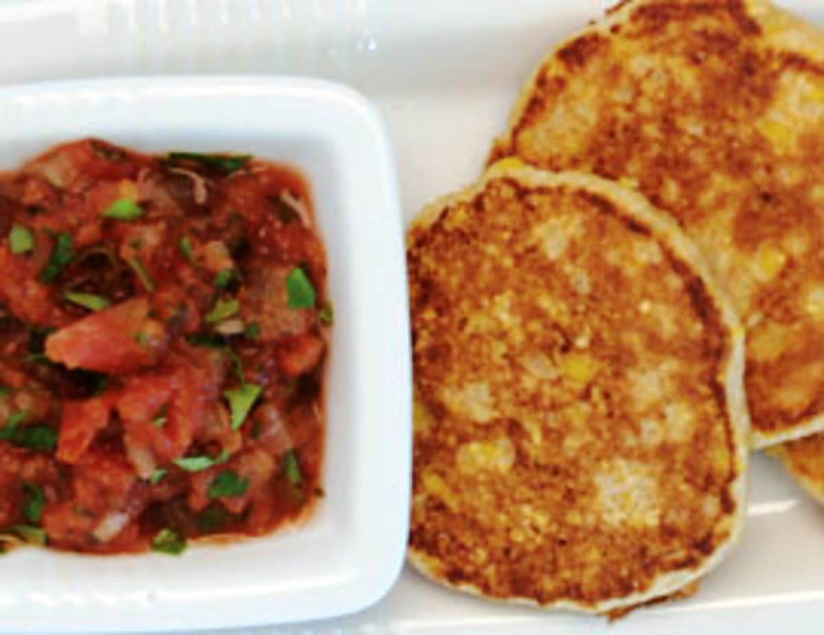 Corn and polenta fritters