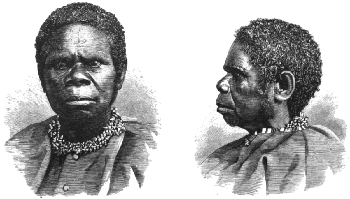 The last Queen Truganini, portrayed in a woodcut.