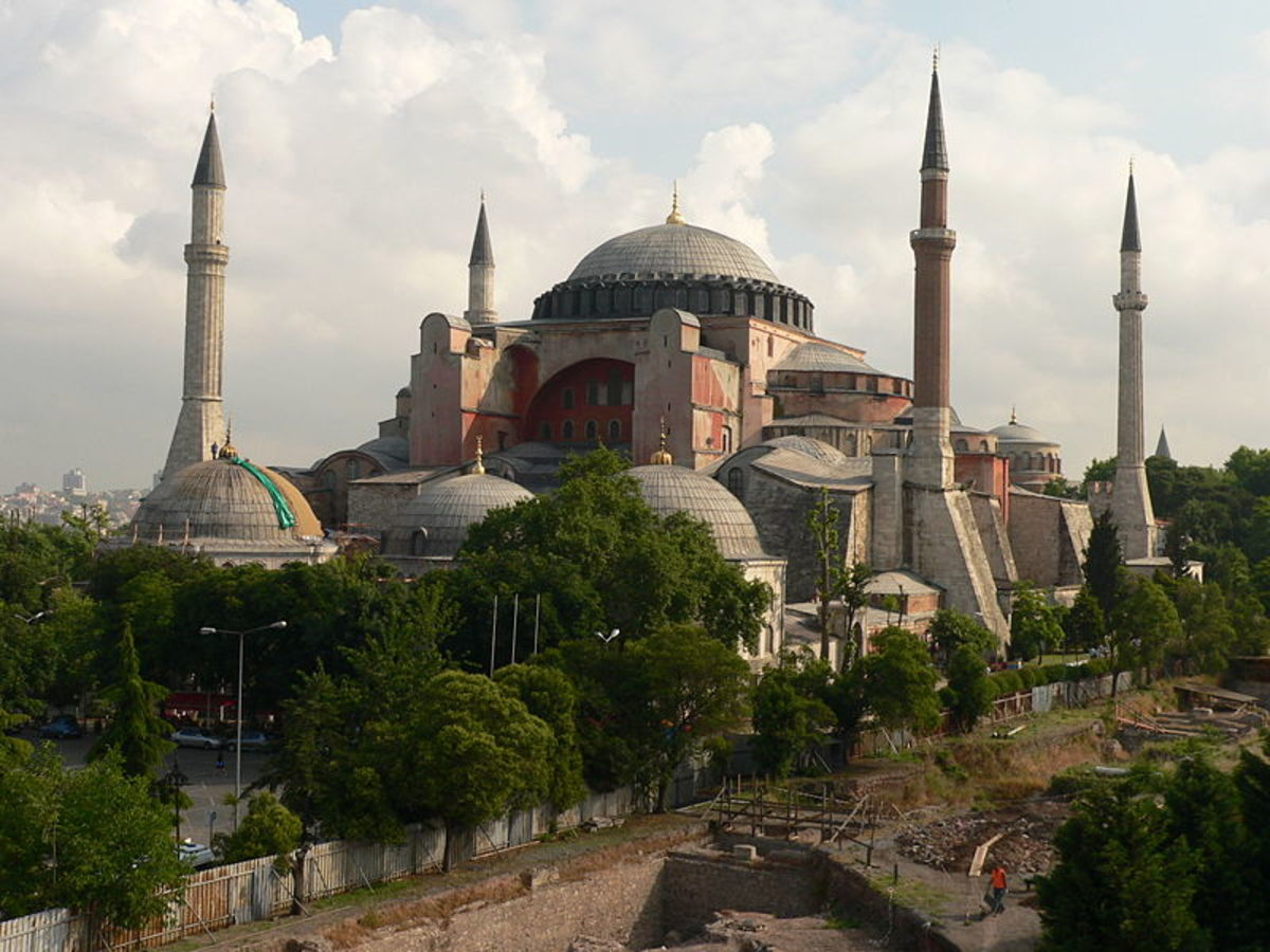 Sophia Cathedral built by Emperor Justinian in the 6th Century