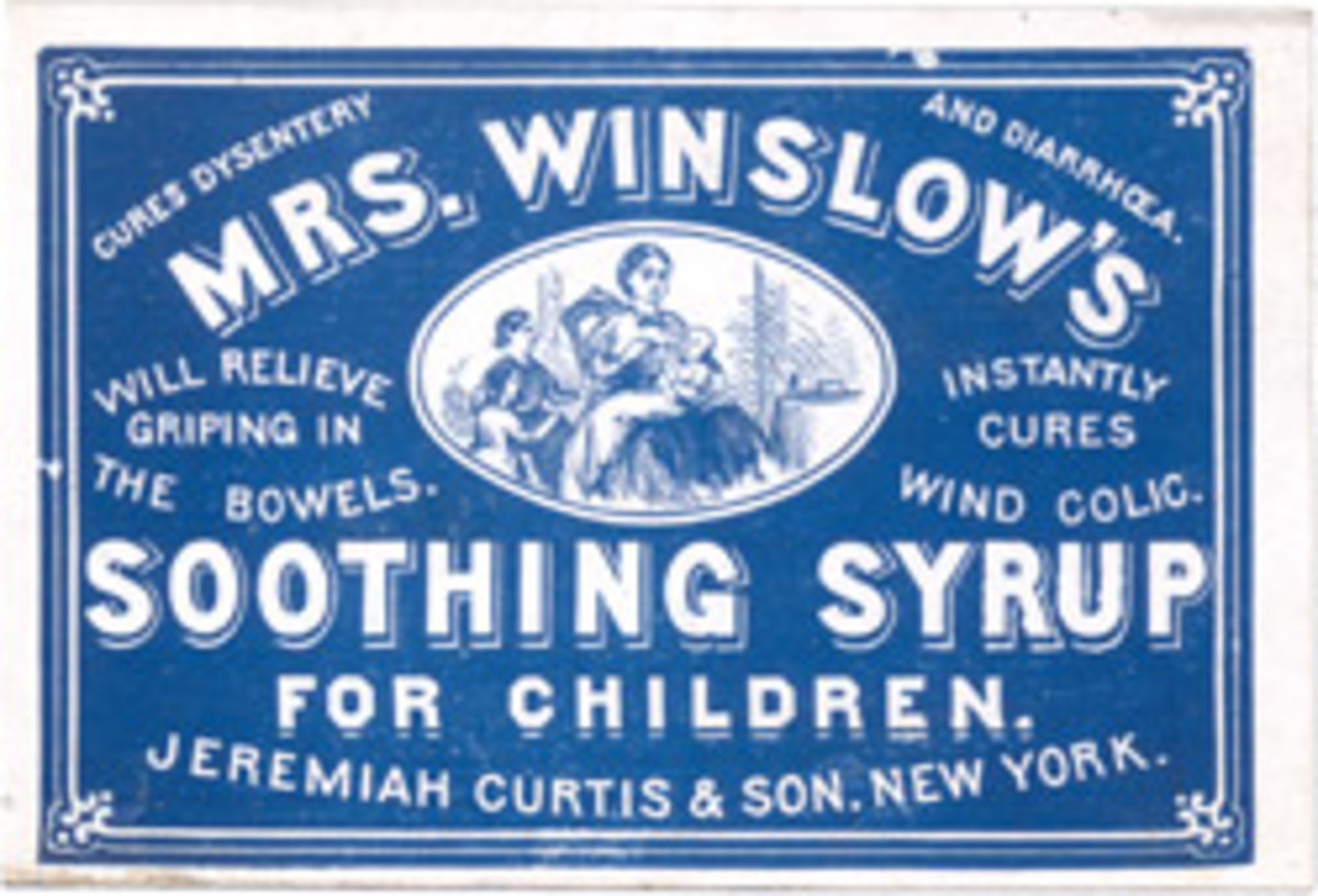 Soothing and, sometimes, deadly, this syrup was marked especially for children.