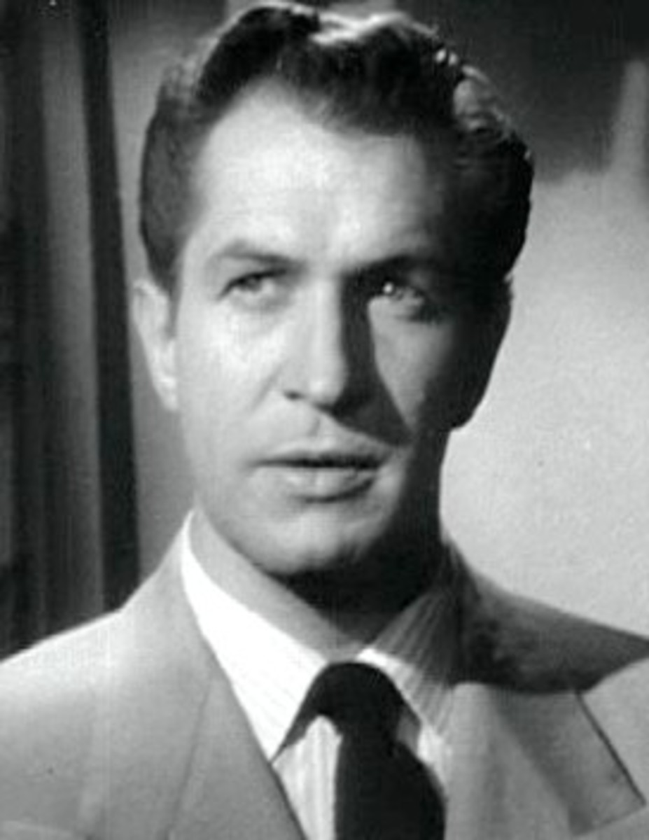 "Vincent Price in ""Laura"", 1944' based on the book."