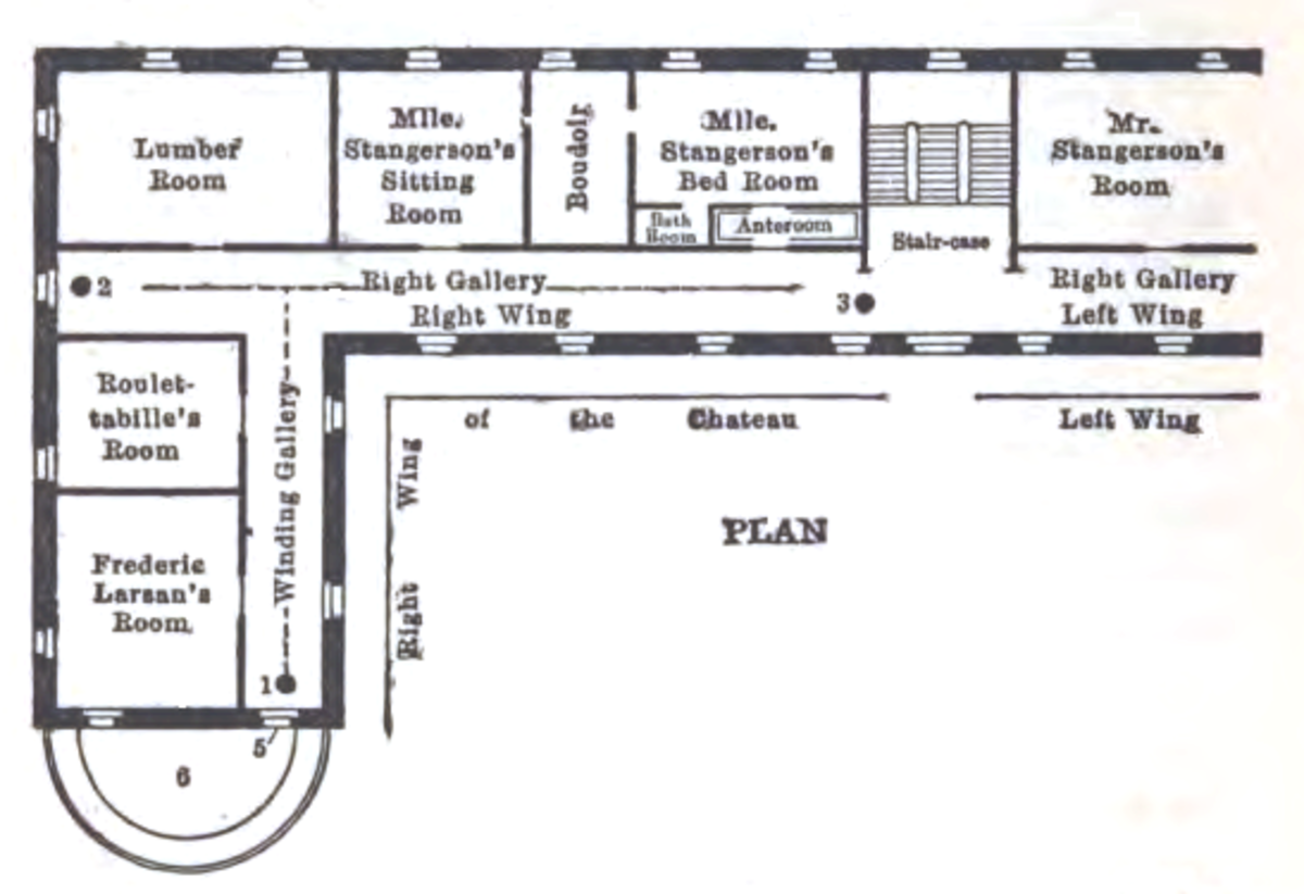 Floor Plan: The Mystery of the Yellow Room