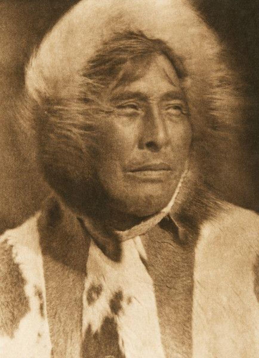 Inuit man in Alaska in 1928.