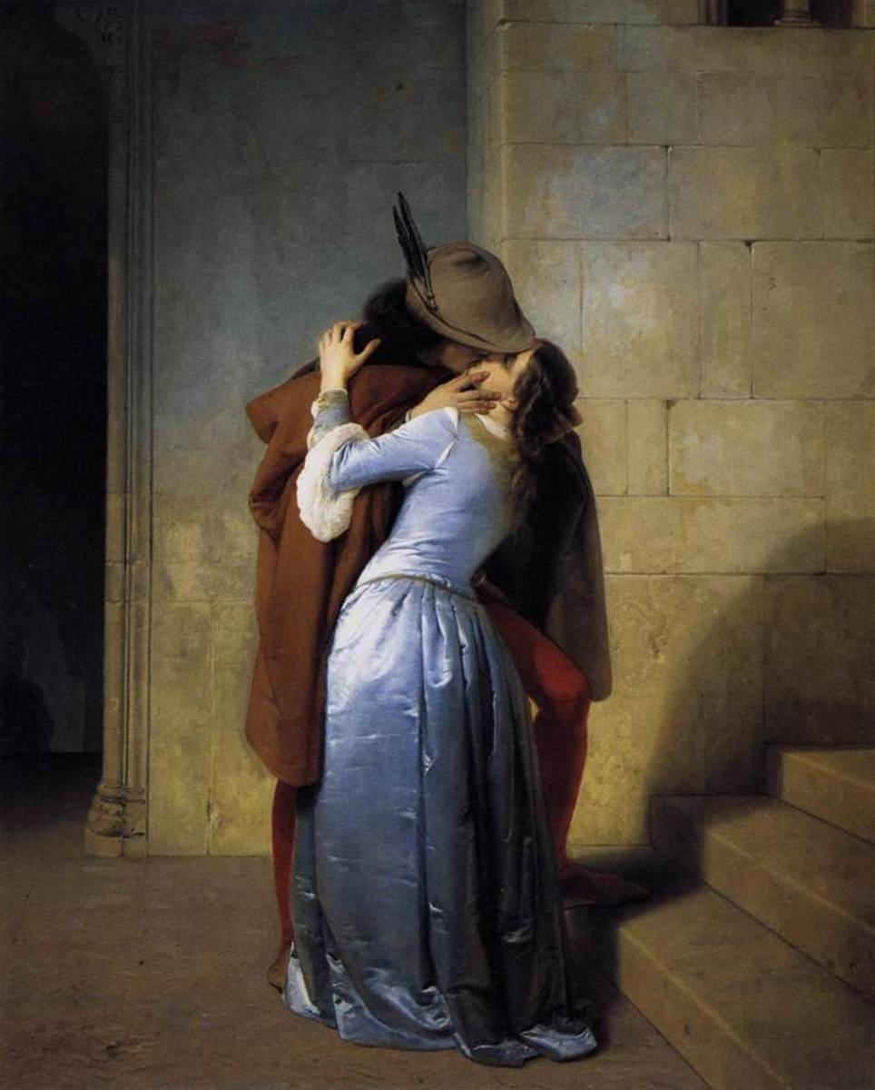 "Francesco Hayez -- ""The Kiss"""