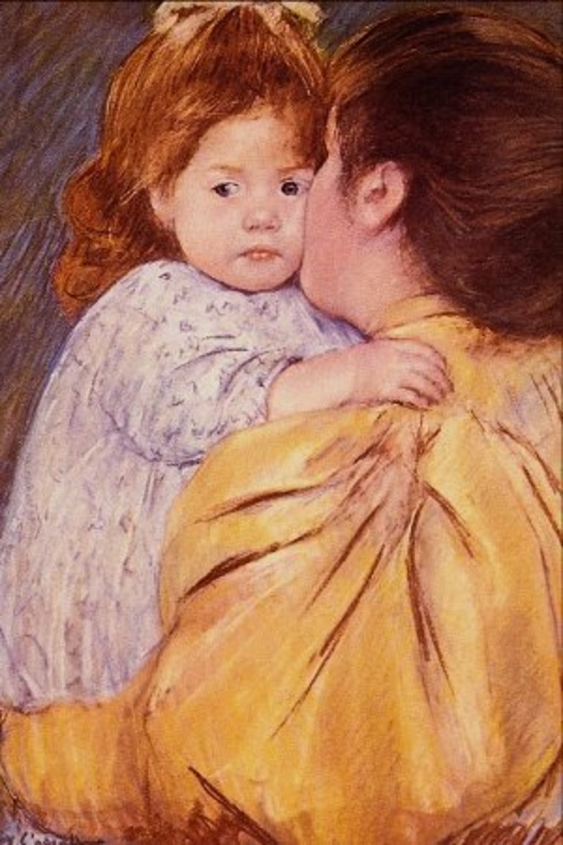 Only a mother can kiss away the tears.