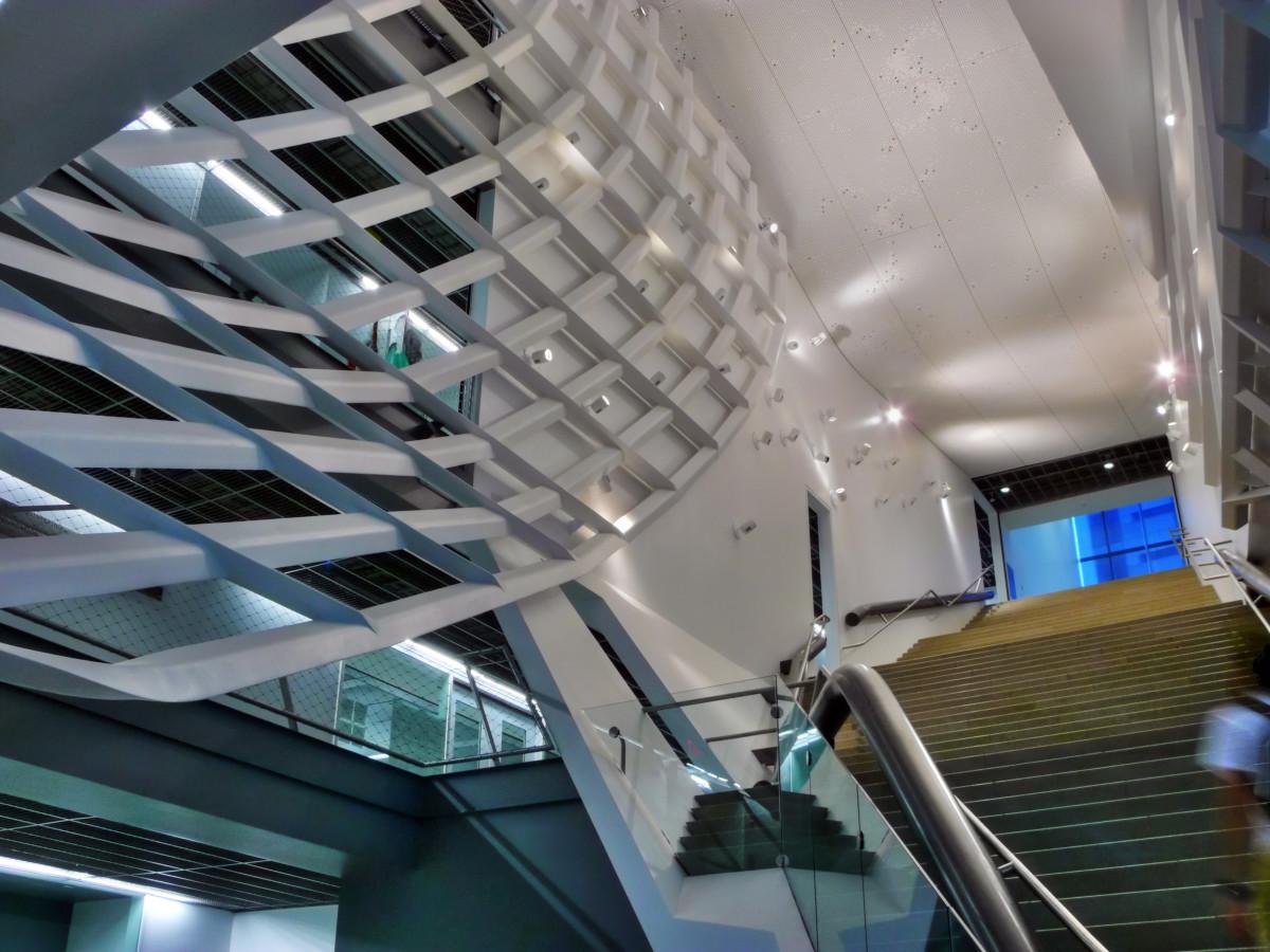 The main atrium at Cooper Union