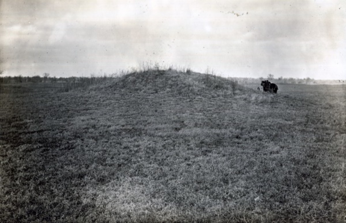Caddo Earth House Mound on Ring Prairie, 1914