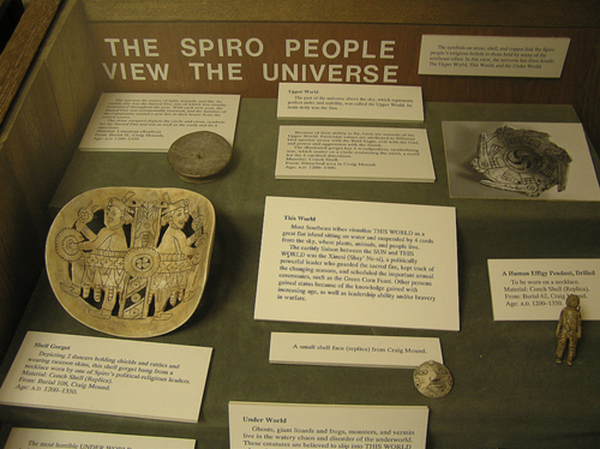 Religious artifacts found at Spiro Mounds